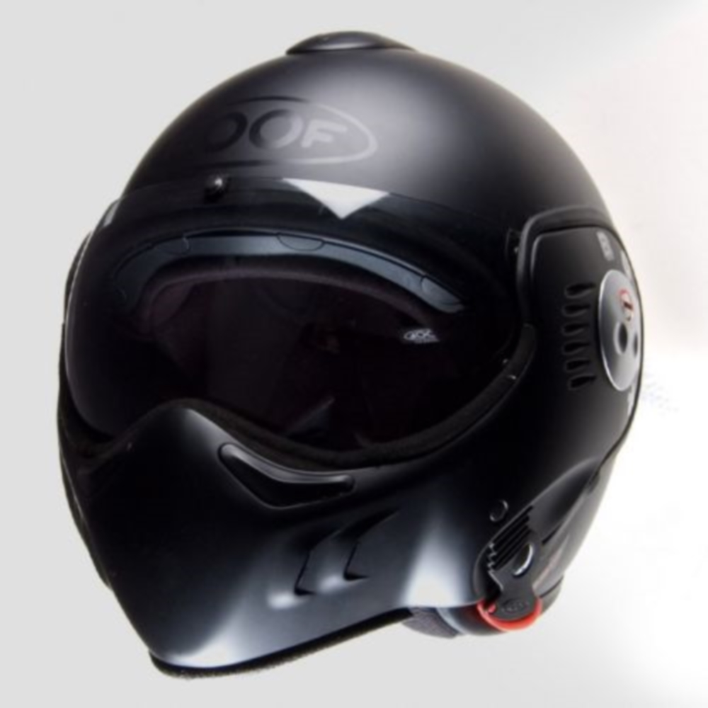 roof boxer v8 flip motorcycle helmet matt black xl ebay. Black Bedroom Furniture Sets. Home Design Ideas