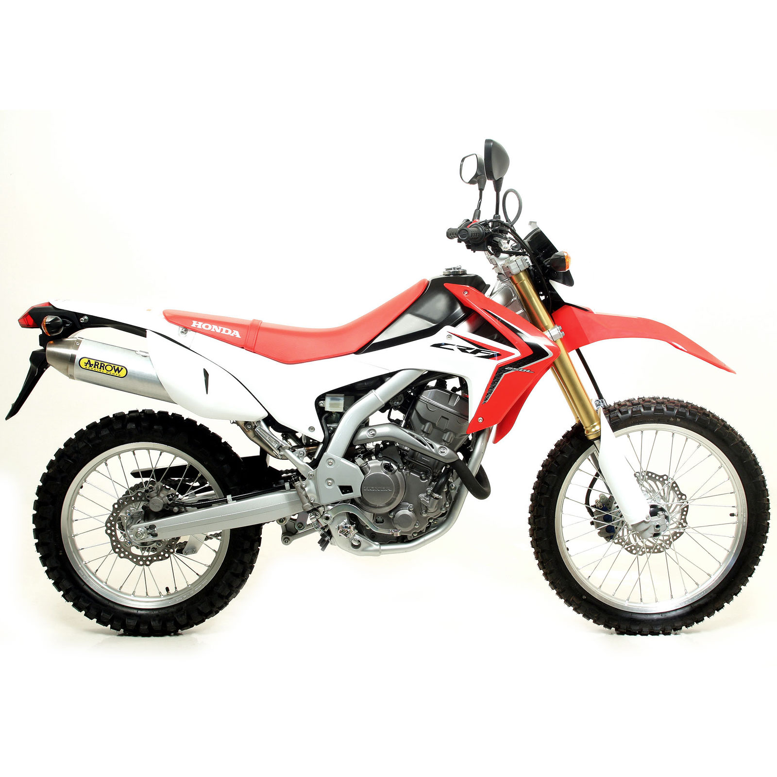 honda crf 250 l 2012 2013 arrow exhaust collector aluminium road silencer ebay. Black Bedroom Furniture Sets. Home Design Ideas