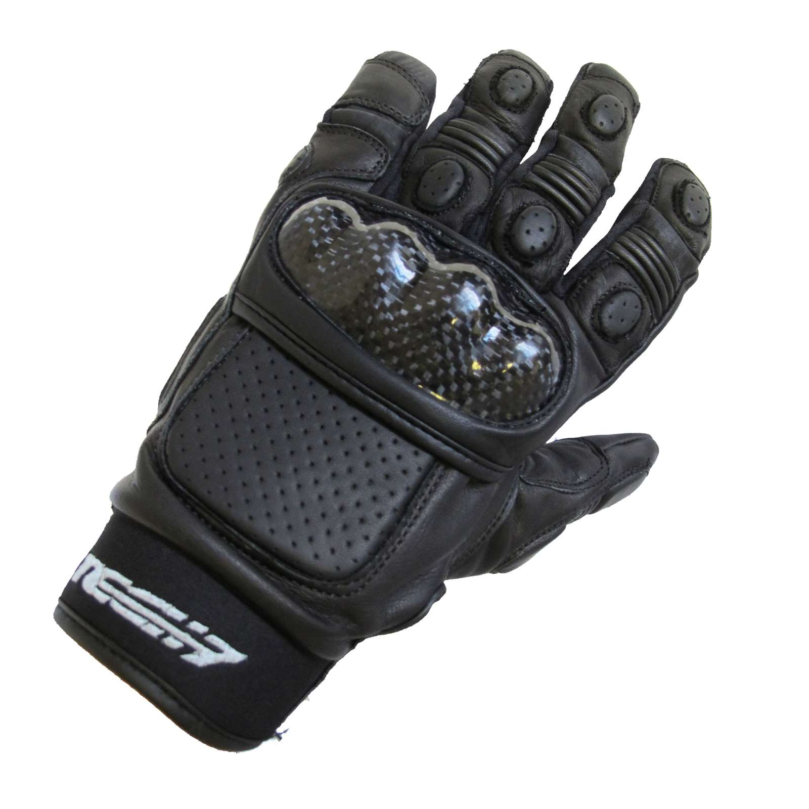 Extra small black leather gloves - Tech 7 Cyber Summer Motorcycle Leather Gloves Black Extra Small Xs